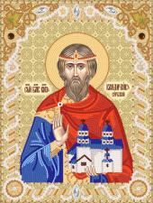 Святой благоверный князь Владислав Сербский. Размер х 18 х 24 см.