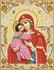 Владимирская икона Божией Матери. Размер - 18 х 23 см.