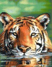 """Набор для вышивания крестом """"Водяной тигр""""."""