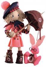 """Набор для шитья текстильной каркасной куклы """"Шоколадница бэби""""."""