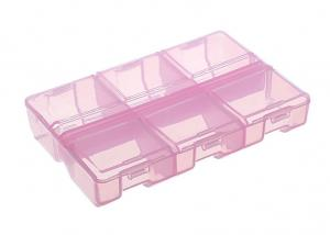 Контейнер для мелочей К-178, размер 9 х 9 х 1,8см, цвет розовый