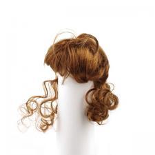 Волосы (парик) для кукол (локоны),цвет:каштановый,размер 28-32 см (шар 9-10 см)