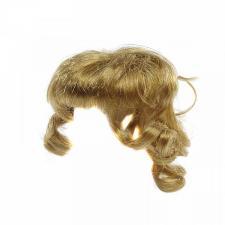 Волосы (парик) для кукол (локоны),цвет:русый,размер 16-19 см (шар 5-6 см)