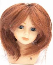 Волосы (парик) для кукол (прямые),цвет:махагон,размер 16-19 см (шар 5-6 см)