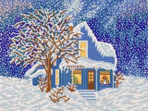 Сказочная зима. Размер - 35 х 26 см.