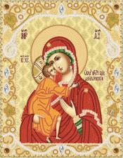 Феодоровская икона Божией Матери. Размер - 18 х 23 см.