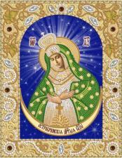 Богородица Остробрамская. Размер - 18 х 23 см.