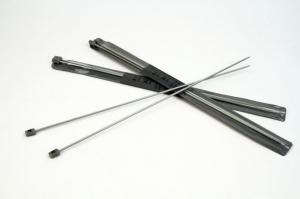 Спицы прямые, тефлоновые, d=3,0 мм, 35 см