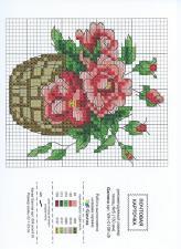 """Открытка-схема """"Розы""""."""