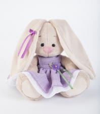 Зайка Ми в фиолетовом платье с цветочком (Малыш). Размер - 15 см