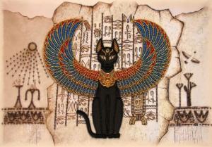 Butterfly | Египетская кошка. Размер - 37 х 26 см.