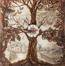 Дерево-часы. Размер - 50 х 50 см.