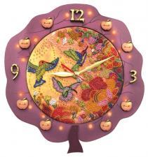 """Часы """"Райские птицы"""". Размер - 27 х 29 см."""