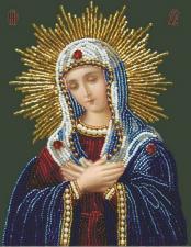 Изящное рукоделие | Богородица Умиление. Размер - 13 х 17 см