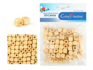 Деревянные бусины в упаковке Colibry,берёза,40,7 г