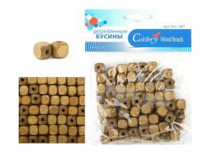 Деревянные бусины в упаковке Colibry,дуб,40,7 г