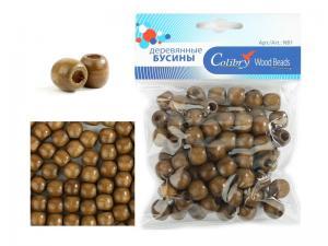 Деревянные бусины в упаковке Colibry.