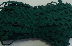 Декоративная тесьма Вьюнчик. Цвет 123 (тёмно-зелёный)