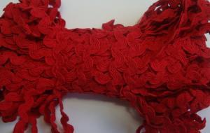 Декоративная тесьма Вьюнчик. Цвет 115 (красный)