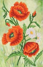 Изящные цветы. Размер - 24 х 37 см.
