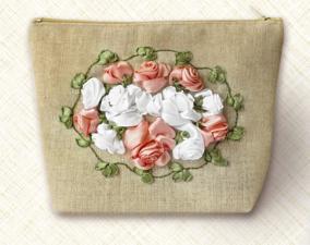 Косметичка.Винтажные розы. Размер - 20 х 14 см.