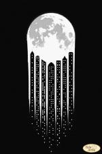 В свете Луны. Размер - 24 х 36 см.