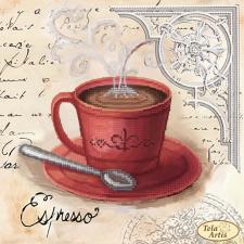 Кофе в Париже-3. Размер - 24 х 24 см.