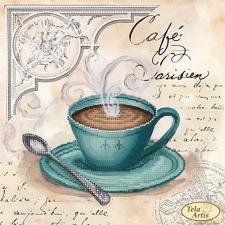 Кофе в Париже-4. Размер - 24 х 24 см.
