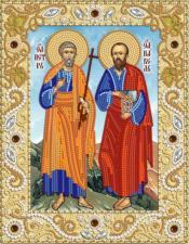 Святые апостолы Пётр и Павел. Размер - 18 х 23 см.