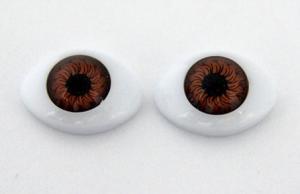 Глазки для кукол овальные (половинки). Цвет (карий)