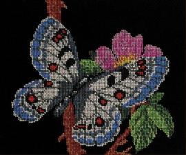Радуга бисера (Кроше) | Порхающая красавица. Размер - 24 х 28 см.