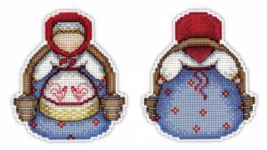 "ТМ Жар-птица | Набор для вышивания на пластиковой канве ""Оберег. Богатушка"". Размер - 9 х 10 см"