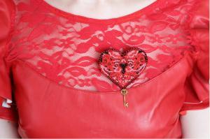 """Набор для вышивки бисером украшения на натуральном художественном холсте """"Ключ к сердцу-1"""""""