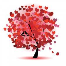 "Картина стразами (набор) ""Дерево любви"". Размер - 45 х 45 см."