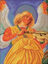 """Набор для вышивания бисером """"Ангел """"""""Музицирующий ангел. Секондо"""". Размер - 26 х 35 см."""