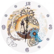 """Часы """"Механическое время"""". Размер - 31,5 х 31,5 см."""