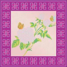 """Схема для вышивки бисером """"Роза""""."""