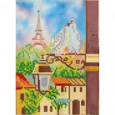 """Схема для вышивки бисером """"Весна в Париже""""."""