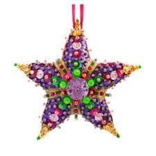 """Ёлочная игрушка """"Пурпурная звезда""""."""