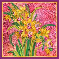 """Схема для вышивки бисером """"Розовый шарм"""". Размер - 20 х 20 см."""