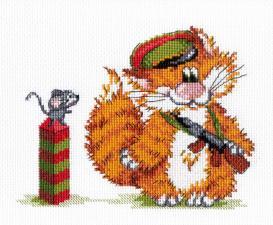 МП Студия | Рыжий кот.Пограничник. Размер - 20 х 15 см.