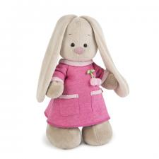 Зайка Ми в розовом платье с вишенкой, мягкая игрушка BudiBasa