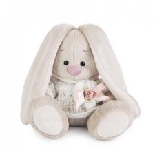 Зайка Ми в вязаном свитере (Малыш). Размер - 15 см