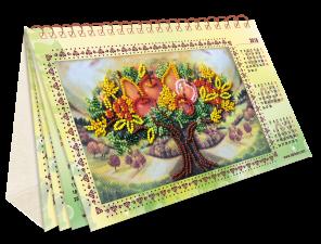 """Набор для вышивки бисером на натуральном художественном холсте """"Календарь. Дивный сад"""""""