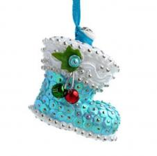 "Ёлочная игрушка ""Сапожок Деда Мороза""."