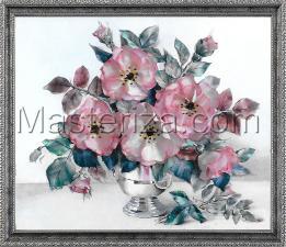 Розы пастель. Размер - 35 х 28 см.
