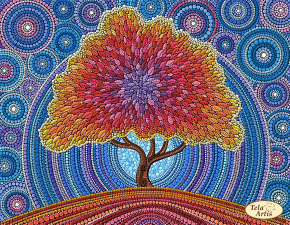 Дерево счастья. Размер - 31 х 24 см.