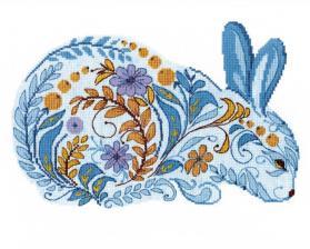 Набор для вышивания крестом Crystal Art Краски зимой. Размер - 26 х 21 см.