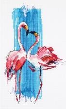 Розовые фламинго. Размер - 17 х 25 см.