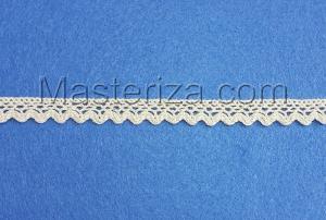 Кружевная тесьма, артикул 1011-1, ширина 10 мм, цвет бежевый